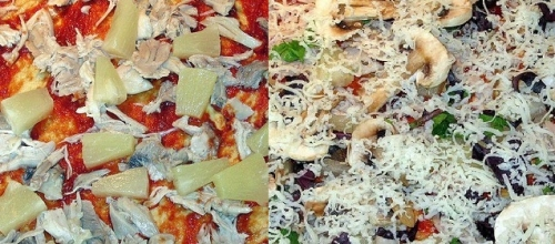 Викладаємо в піцу начинку