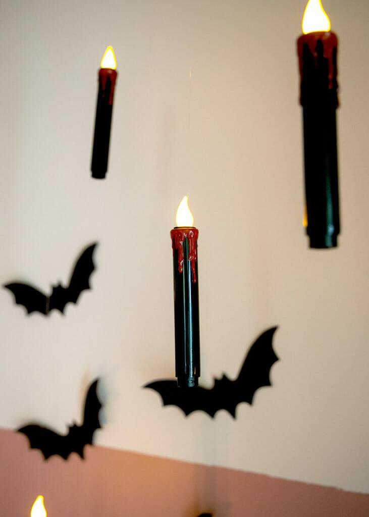 черные биты и украшения для свечей
