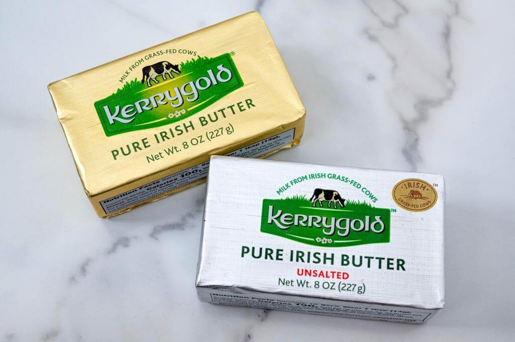 Соленое и несоленое масло Kerrygold